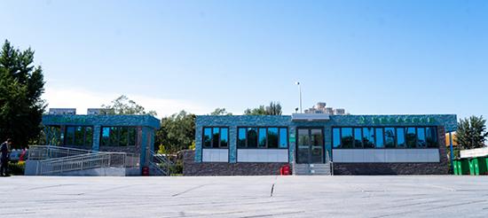 北京馬拉松運動員熱門打卡智能無水生態公廁