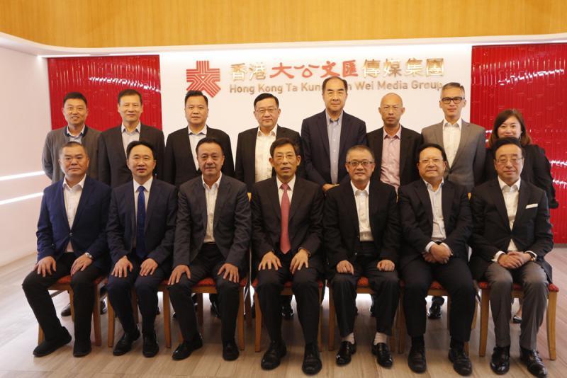 ?政協委員到訪香港大公文匯傳媒集團