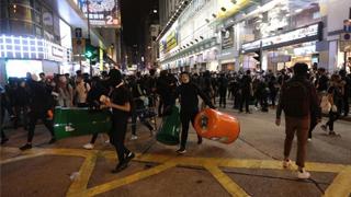 乱港?暴徒又尖沙咀堵路砸店 多人被捕