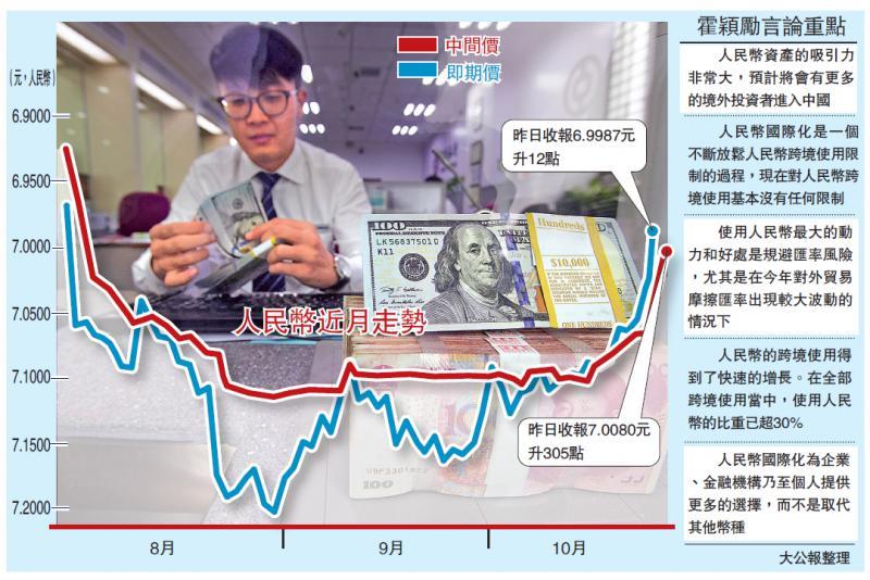 """?中国经济\人行:人币资产""""吃香"""" 势引更多外资\大公报记者 王芳凝"""