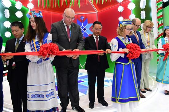 甘肃省长唐仁健出席白俄罗斯进博会国家馆开馆仪式