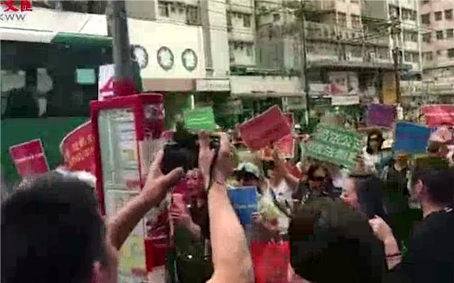 数百市民自发集会 吁强力止暴制乱守护香港
