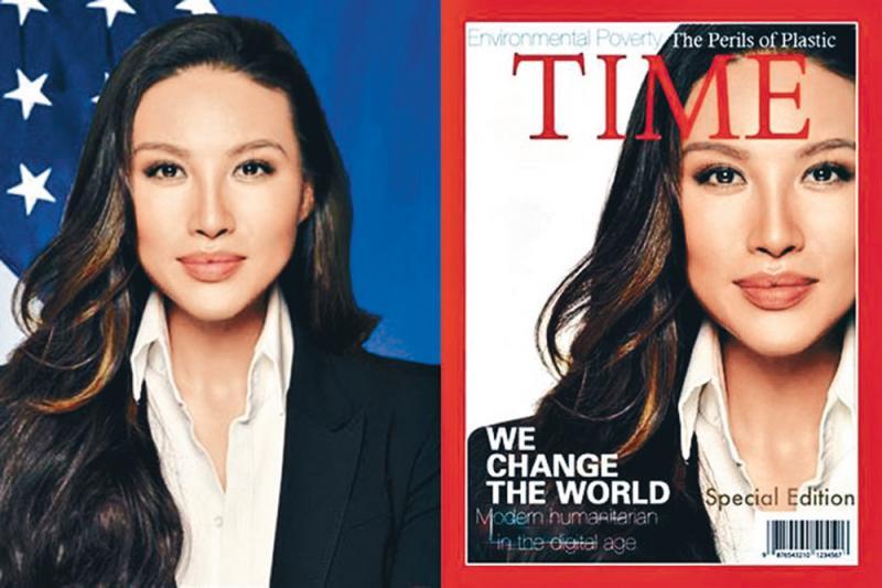 ?美国女高官美化履历 自造《时代》封面