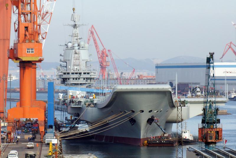 ?国产航母启第九次海试