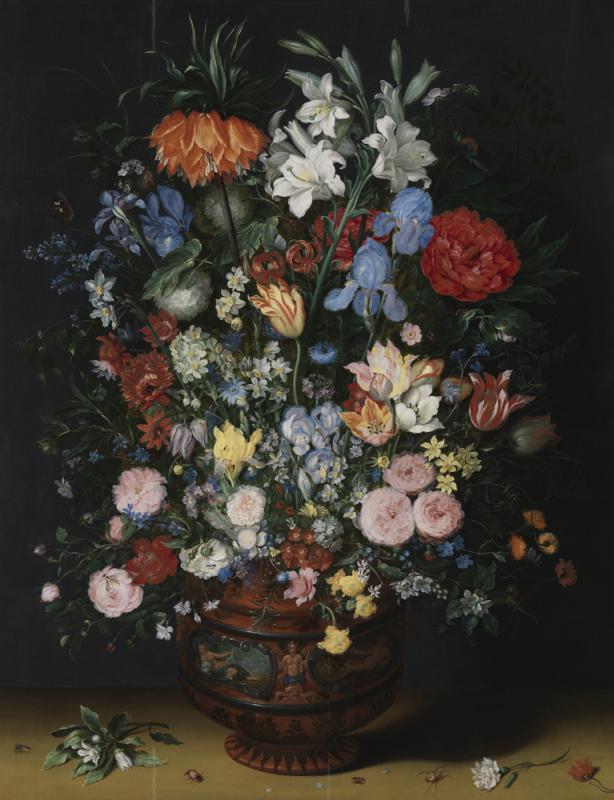 艺加之言\《陶瓷瓶中的花卉》\王 加