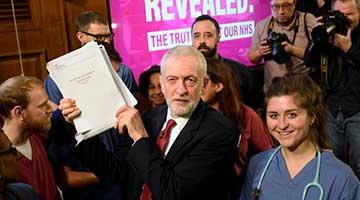 ?美谋染指NHS成焦点 英国工党党魁抽水希望能翻身