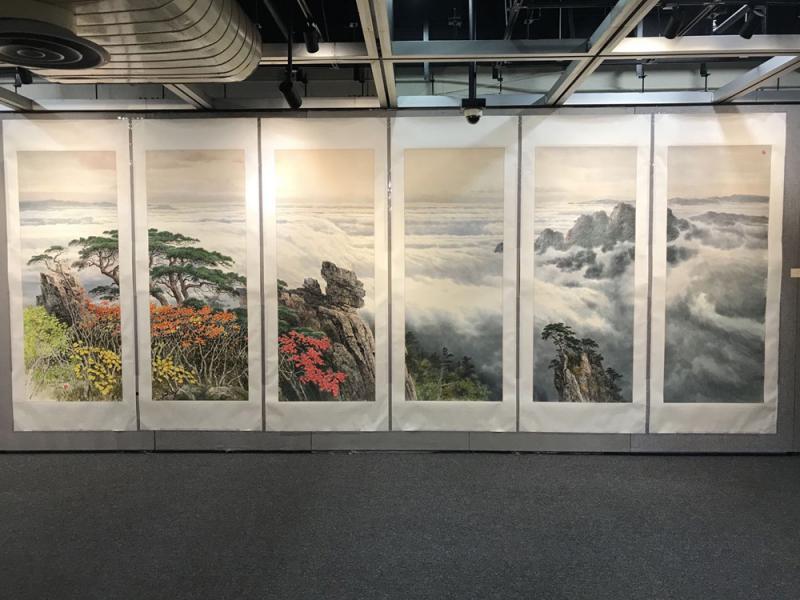 万寿台作品展一览朝鲜风貌