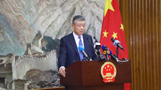 """刘晓明:中国的发展意图光明磊落 无意""""取代""""谁"""