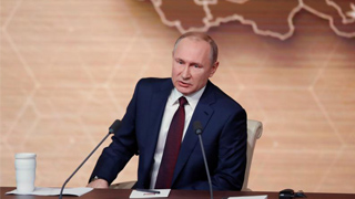 """普京年度记者会盛赞中俄关系 拟对美制裁""""以牙还牙"""""""