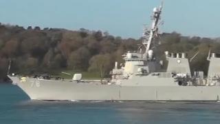 美国导弹驱逐舰抵达乌克兰南部敖德萨港