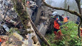 台军坠毁直升机黑匣子已找到 事故原因仍待调查