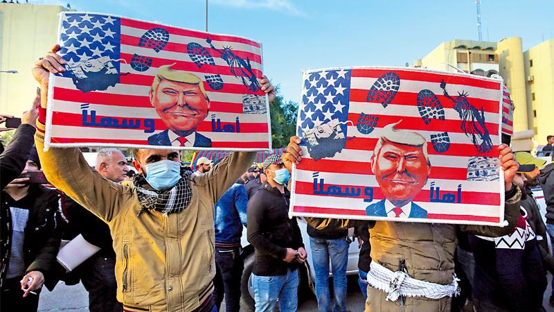 ?伊拉克示威者要求华府撤军 多地现反美游行