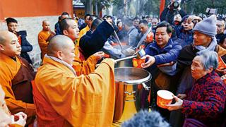 ?少林寺施臘八粥 傳統文化香溢全球