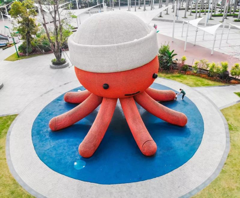 鹽田公園超大章魚堡