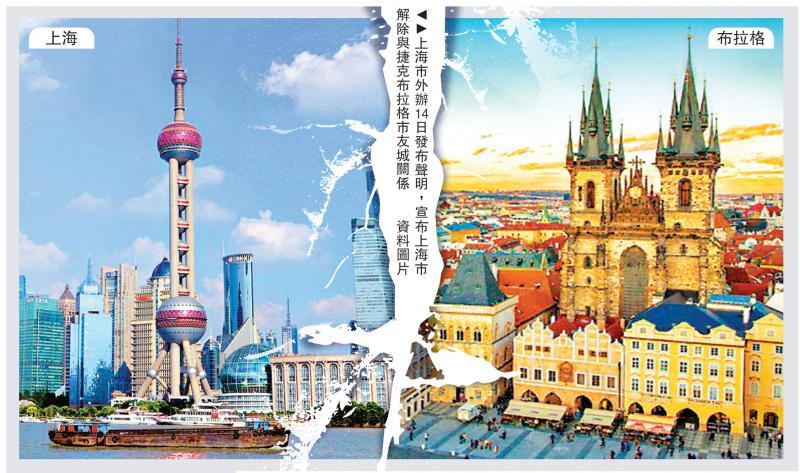 上海市解除与捷克布拉格市友城关系