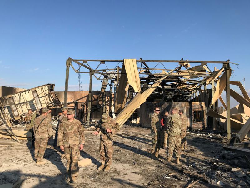 ?驻伊拉克基地被毁 美军11人脑震蕩