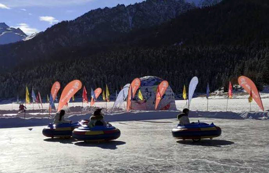 2020年新疆天山天池「冰封雪湖」冰上項目開幕