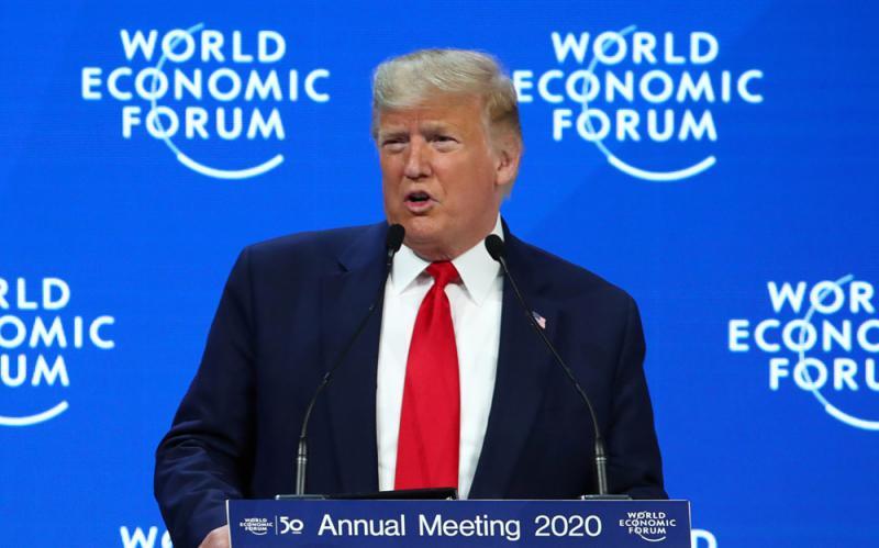 ?特朗普达沃斯吹嘘经济 不提气候变化