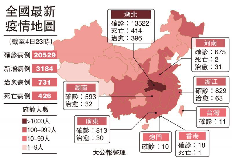 ?全国最新疫情地图(截至4日23时)