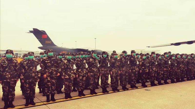军队增派医护人员支援武汉 运-20首次参加非战争军事行动