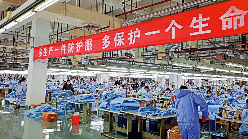 中国制造出奇谋 变阵增产助抗疫