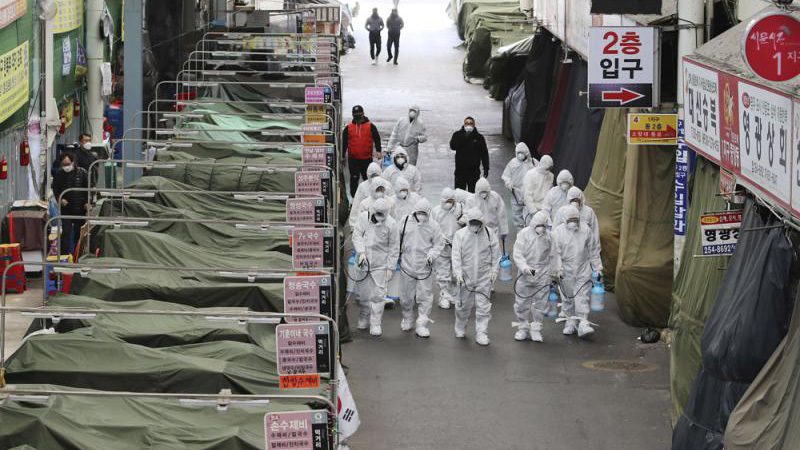 韩国疫情预警调至最高级 推迟开学日期