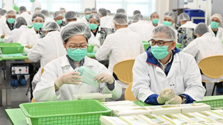 惩教署口罩月产量增至540万个