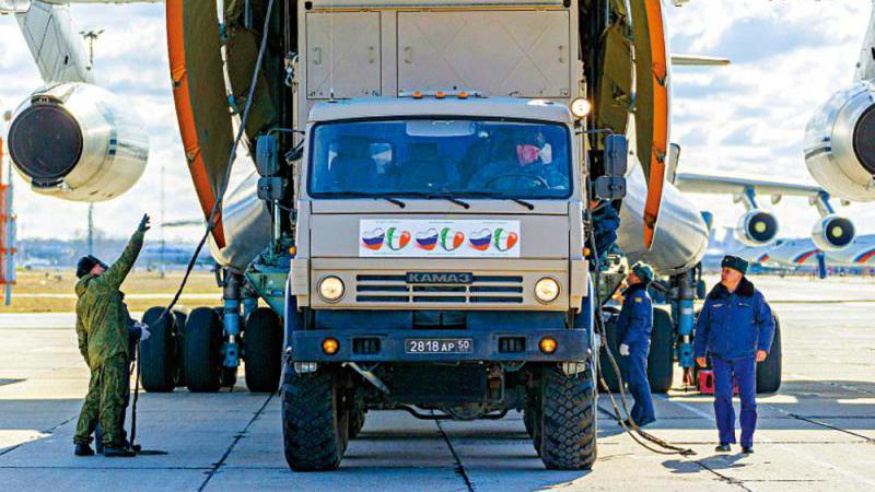 俄军方医疗队驰援意大利