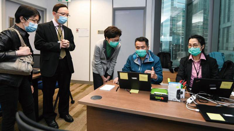 香港特首:对违反检疫令者严厉执法