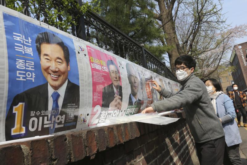 ?韩国会选举 确诊者可邮寄选票