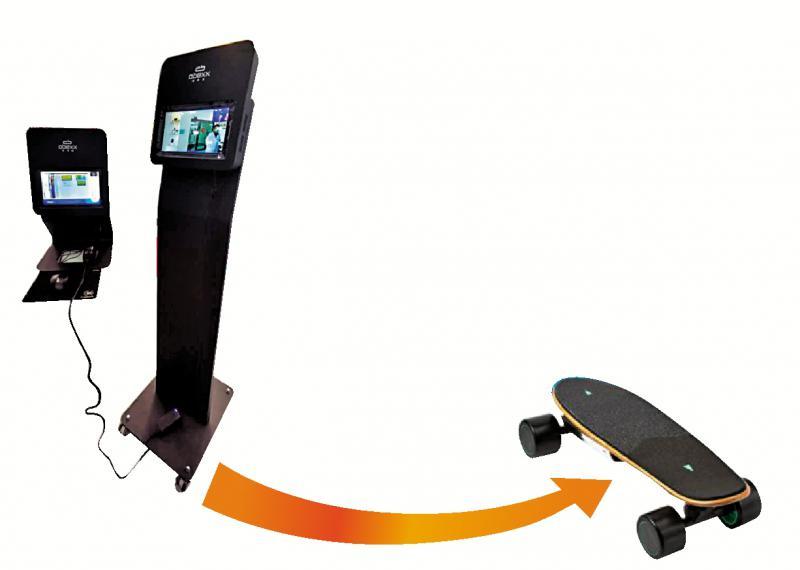滑板车踩过界 转战测温