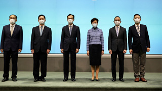 林郑月娥:对5名新局长迎难而上表示敬佩