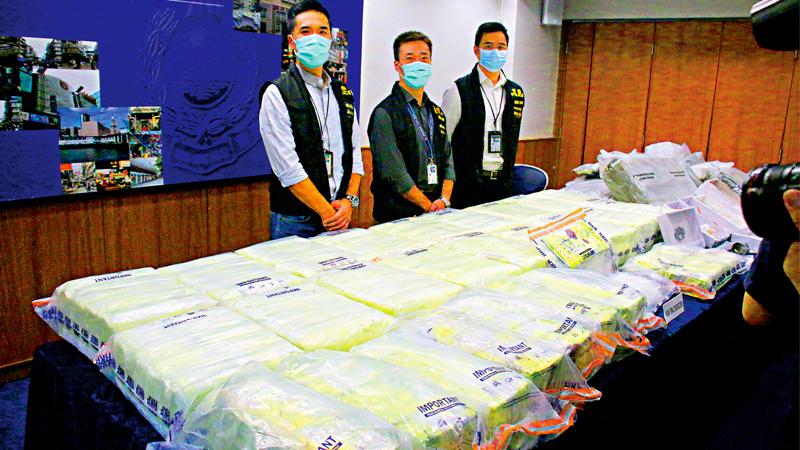 黑暴冰毒操控青少年 港警检1.5亿元货拘七人