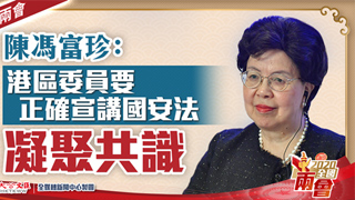 陈冯富珍:港区委员要正确宣讲国安法 凝聚共识