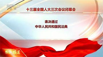 人大会议表决通过《民法典》 自明年1月1日起施行
