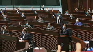 立法会通过国歌条例草案二读