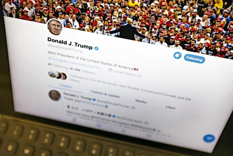 特朗普签署行政令限制社交媒体审查权