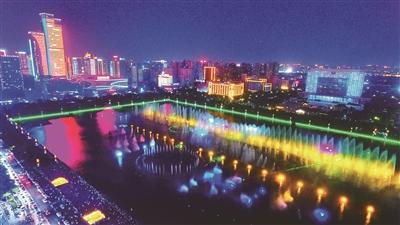 洛陽:開元湖音樂噴泉恢復表演