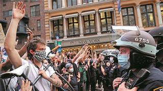联合国专员:美抗议者被贴
