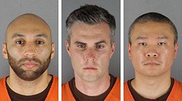 美国弗洛伊德案另三名涉案警察出庭受审 均未认罪