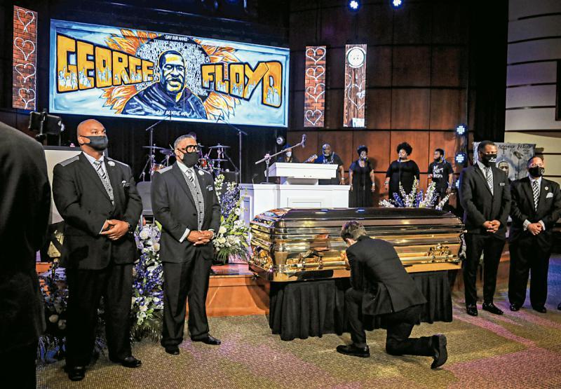 ?特朗普拒悼弗洛伊德 拜登或现身葬礼