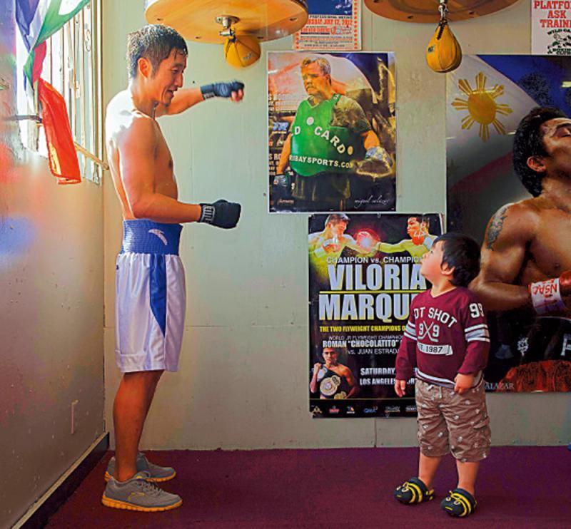家庭亲子拳赛 让孩子们动起来
