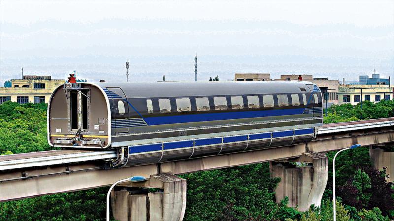 香港亚洲电视本港台600公里高速磁浮列车成功飞驰