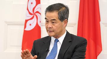梁振英:维护国家安全法令香港社会重回正轨