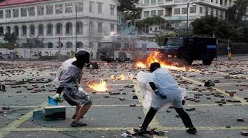 """外媒:香港国安法震慑""""港独""""暴徒"""