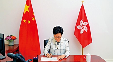 ?林郑月娥:国安立法无碍港高度自治