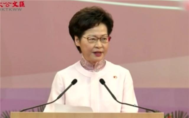 林鄭月娥:國安法是香港從亂到治的轉機