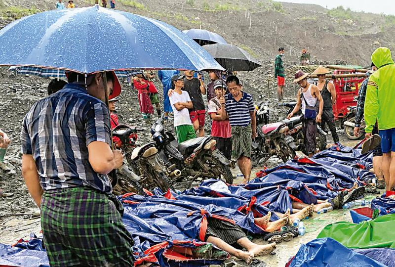 ?缅翡翠矿区坍塌至少162死
