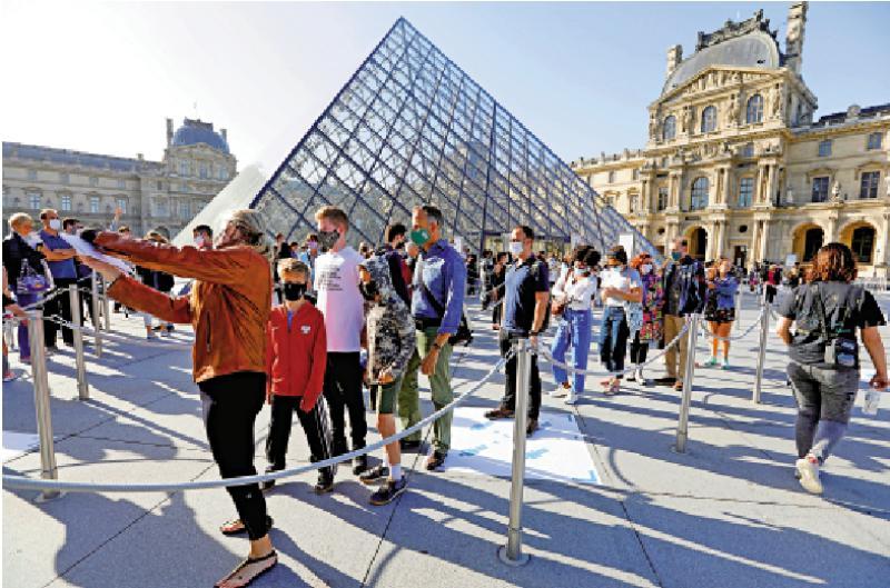?巴黎地標羅浮宮重開限流 參觀人數跌八成
