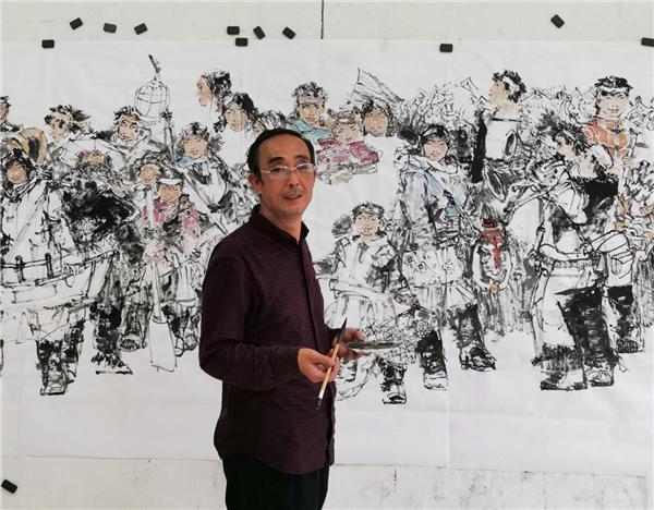 笔墨色彩的表达:著名画家汪智荣